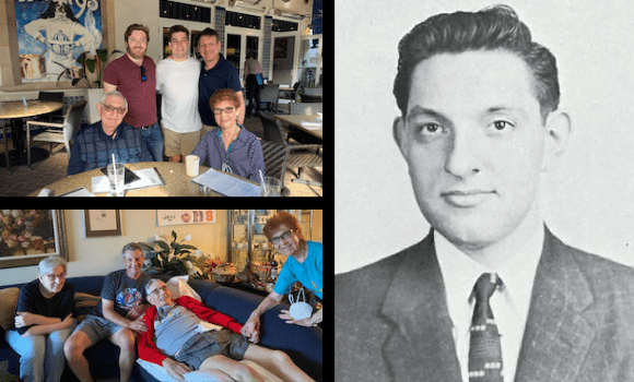 Composite photo of Herbert Rubin with family