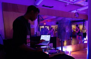 Even at 6:30am. keeping with its nightclub theme, 305 Fitness has in-house D.J. Photo by Emma Kazaryan
