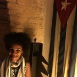 Loipa Pinós Villalón at Havana's Cafe Madigral, where she performs.