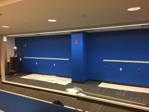 Lab Printer Alcove Under Construction