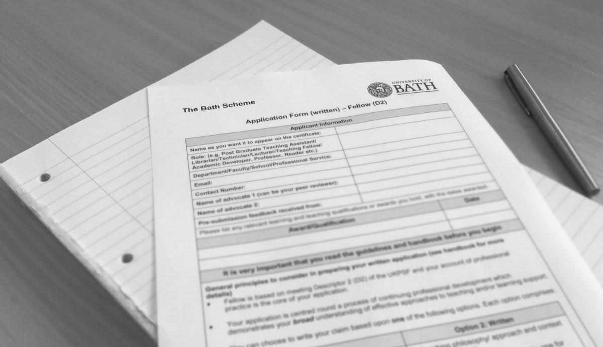 Application form for the Bath Scheme