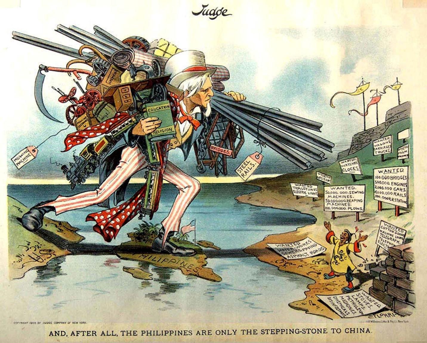 Political Cartoons Philippine American War