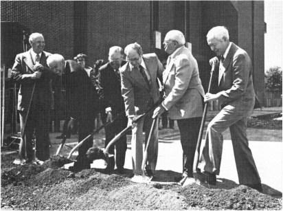 The dedication of the W.R. Poage Legislative Library on September 21, 1979.