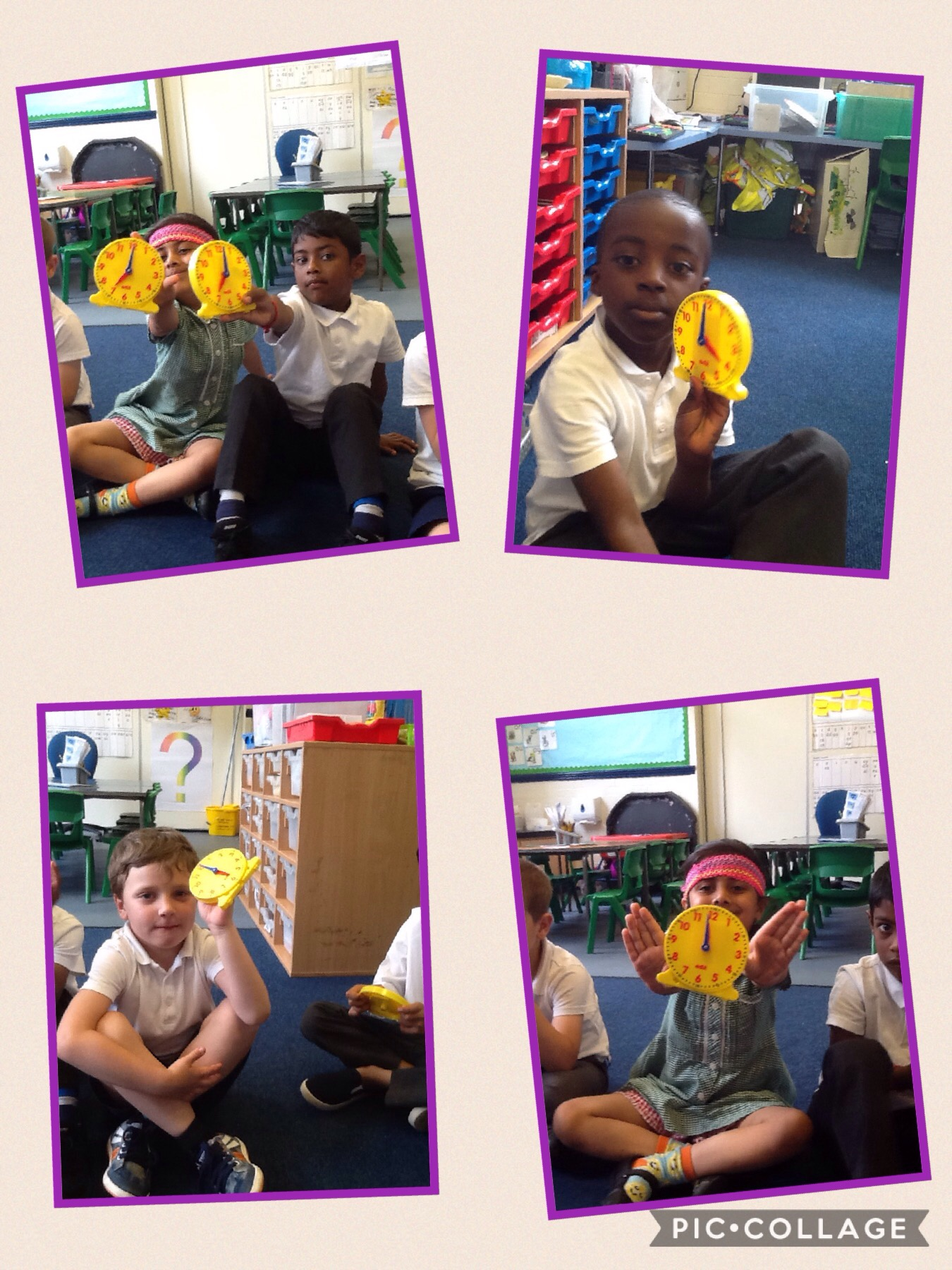 1s Telling The Time To Half Past And O Clock