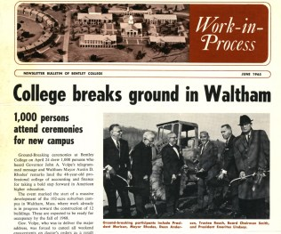 """The """"Work In Process"""" newsletter gave construction updates to the Bentley community."""