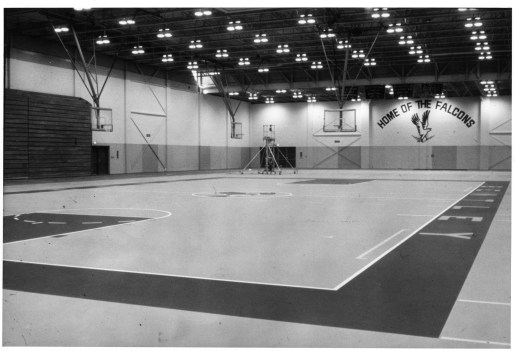 Basketball courts in the Dana Center.