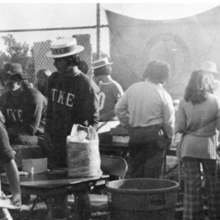 Cookout during Homecoming Weekend, 1975.