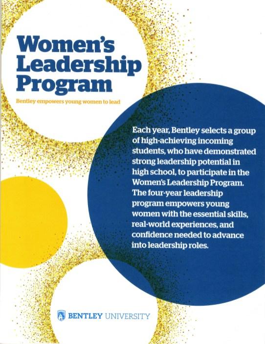 Flyer for the Women's Leadership Program