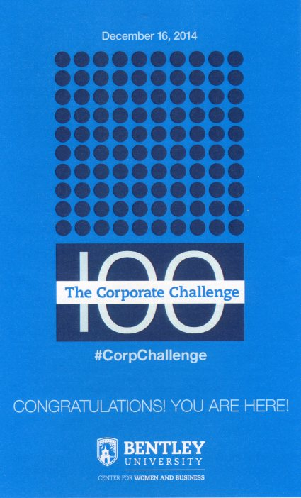 Program from Corporate Challenge event
