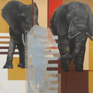 2012 Elephants | 60x60 | oil on canvas