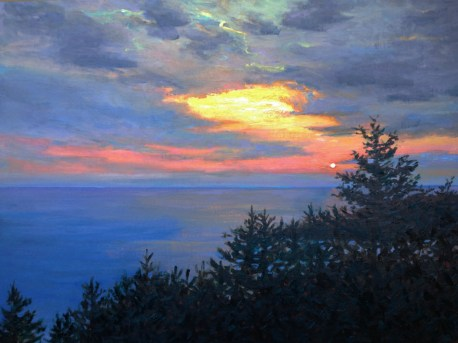 Sunset over Manana by artist Amy Williams
