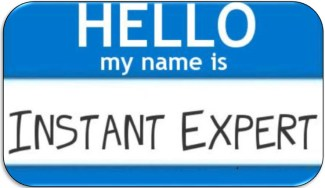 Instant Expert name tag, rounded