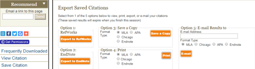 Project Muse Citation Management Options