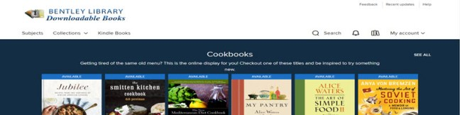 Screenshot of OverDrive homepage.