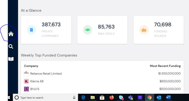 PrivCo dashboard
