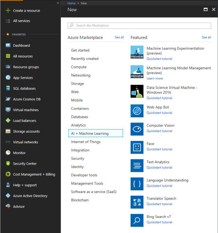 Bing Image Search on Azure Portal