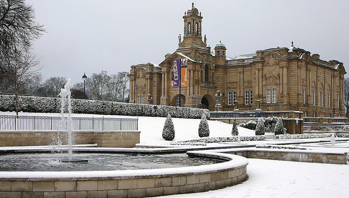 Lister Park in snow