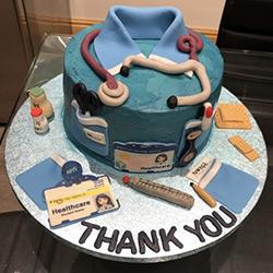 Amreen's nursing uniform design cake.