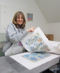Ellen printmaking