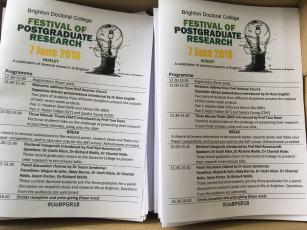 PGR Festival 2018 programmes