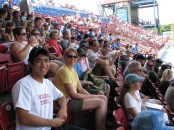 At the Pawsox game