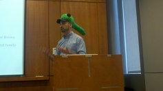 Mark defends his thesis with Tadpole Hat.