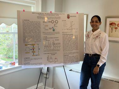 Ambar presents her PREP poster