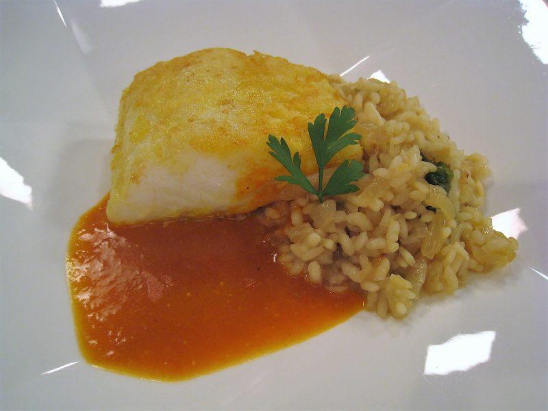 Bacalao en salsa de pimientos