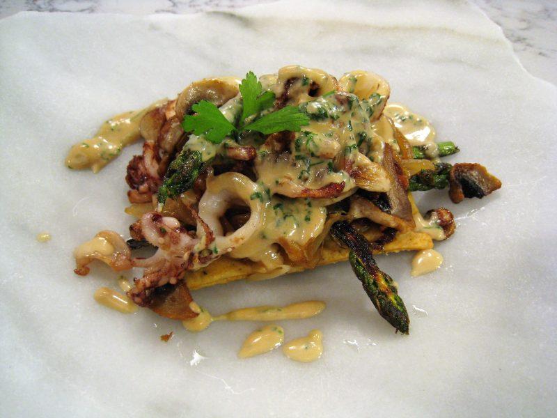 Calamaritos en salsa