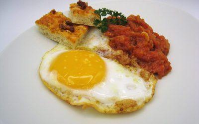Huevos de oca fritos