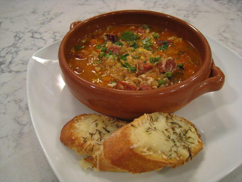 Sopa Cortijera con Chorizo