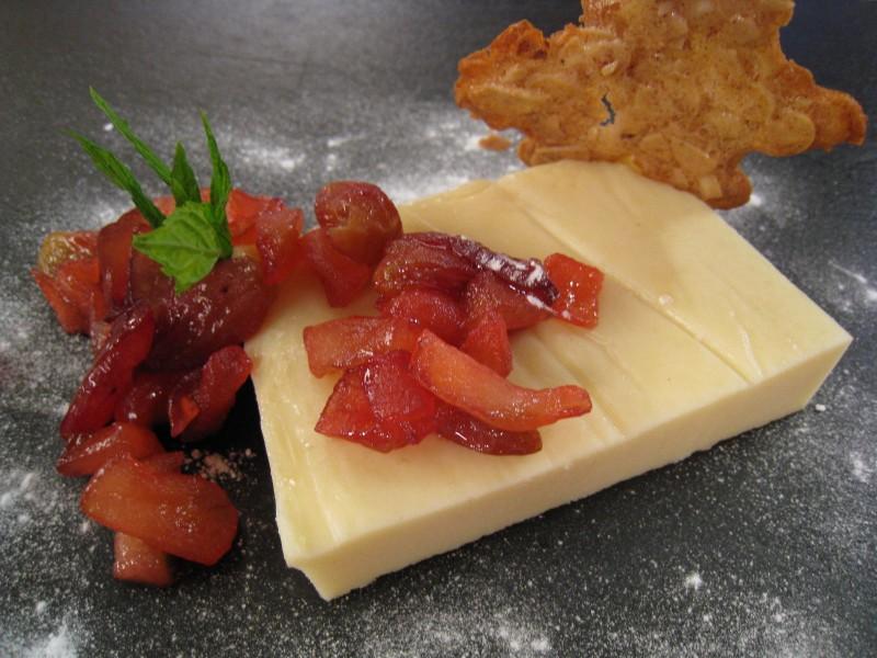Tarta de queso y almendra