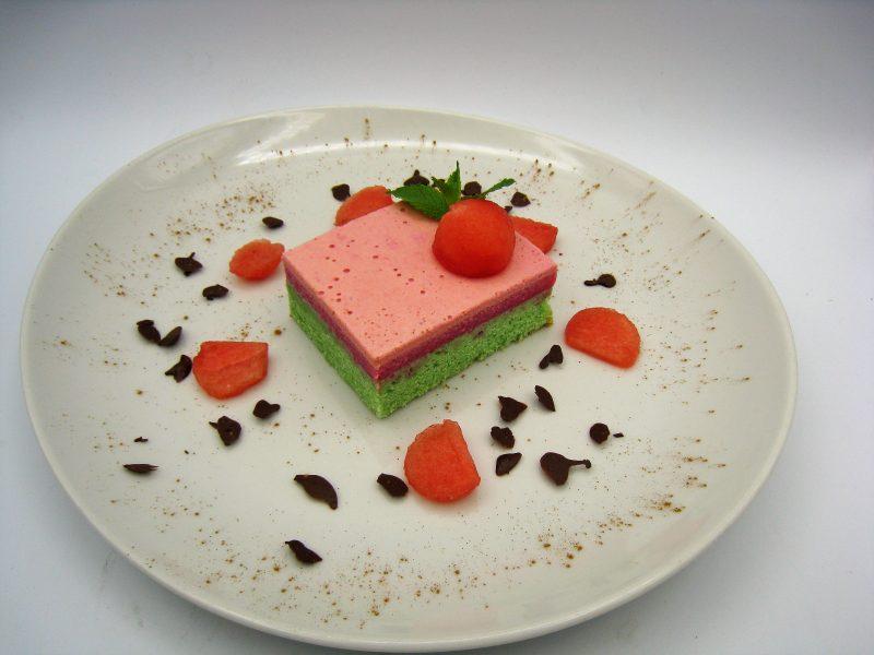 Tarta helada de sandía