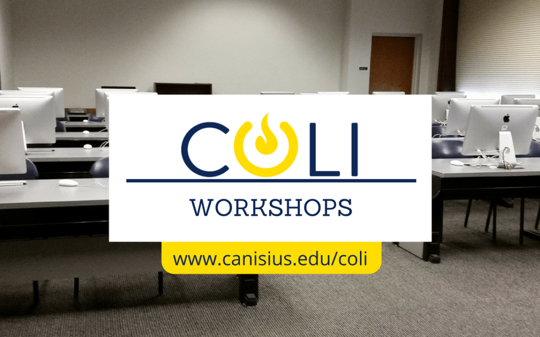 Looking Ahead: COLI Workshops in January 2017