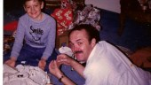 My dad and I assembling the Millennium Falcon, 19, Dec. 1980