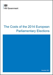 The costs of the 2014 European Parliamentary elections / Cabinet Office
