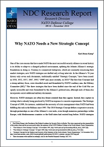 Why NATO needs a new strategic concept / NATO Defence College