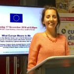 Inma Moreno at the Cardiff EDC event 'What Europe Means To Me'.