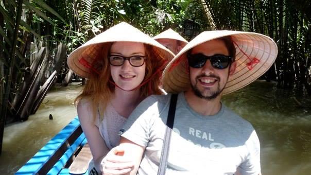 Mirain and her boyfriend, Adam, on their recent travels.