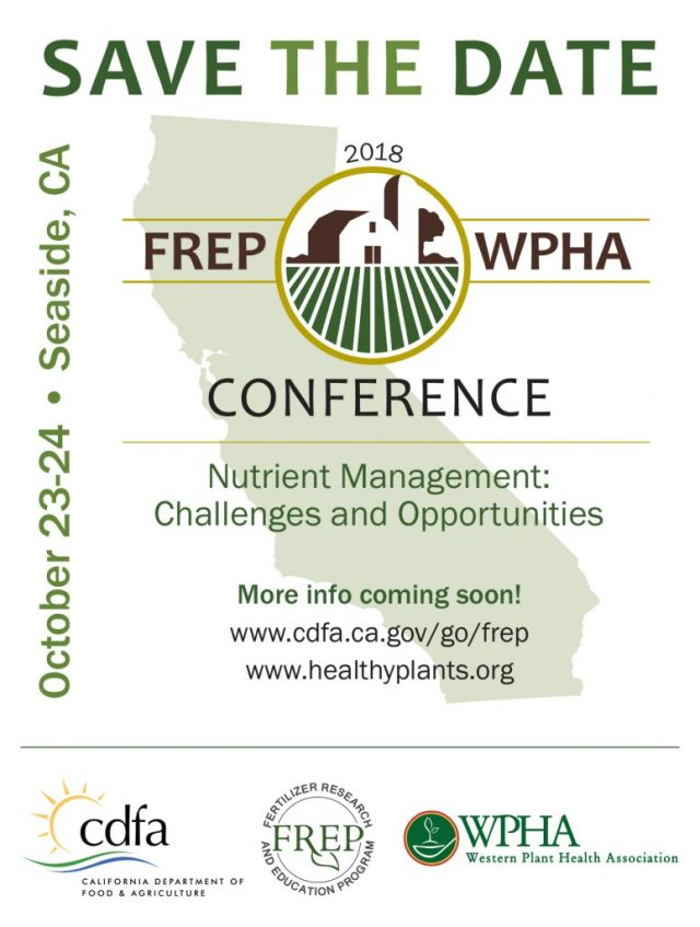 Save the Date flyer for 2018 Frep/WPHA Conference on Oct 23-24, 2018
