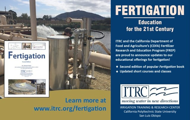 Irrigation Training and Research Center Fertigation class information
