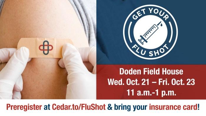 Flu shot clinic announcement
