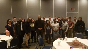 Chapel speaker, Bryan Loritts spends an evening of sharing with Cedarville students