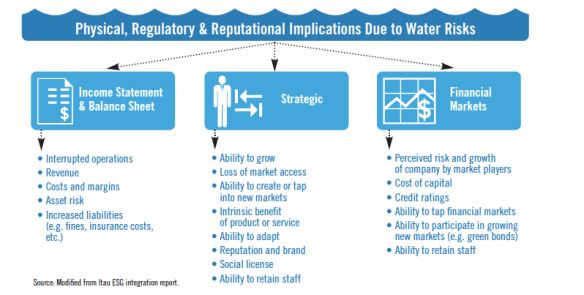 Physical, Regulatory, and Reputational Implications Due to Water Risks