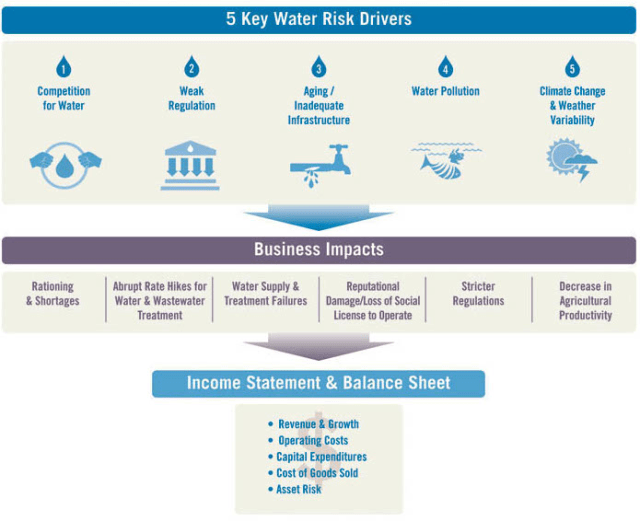 Business and Financial Impacts of Key Water Risk Drivers in Agriculture