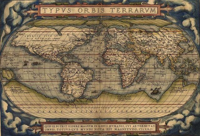 Ortelius World Map Typvs Orbis Terrarvm, 1570