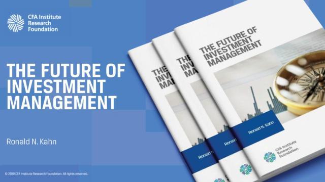 Anuncio para el futuro de la gestión de inversiones
