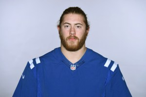 This is a 2016 photo of Joe Haeg of the Indianapolis Colts NFL football team. This image reflects the Indianapolis Colts active roster as of Monday, July 11, 2016 when this image was taken. (AP Photo)