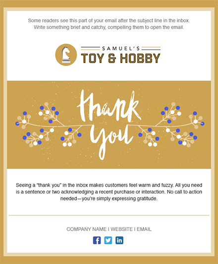 11 Holiday Email Templates For Small Businesses Amp Nonprofits