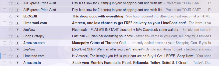 The emails customers open are the ones that garner the most interest.